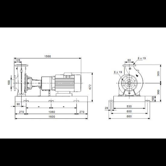 Grundfos NK 80-400/397 A2-F-A-E-BAQE (арт. 97830470) – консольный насос с односторонним всасыванием