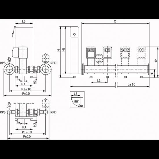 Wilo Smart 4 HELIX VE 211 - насосная станция для водоснабжения и повышения давления воды (арт. 2450237)