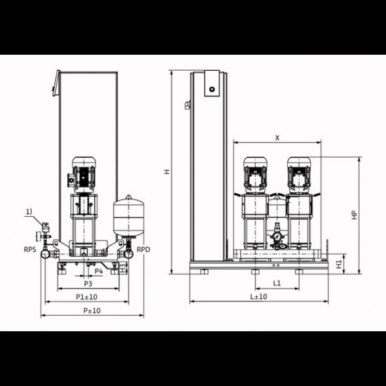 Wilo Smart FC 2 HELIX V 603 - насосная станция для водоснабжения и повышения давления воды (арт. 2787553)