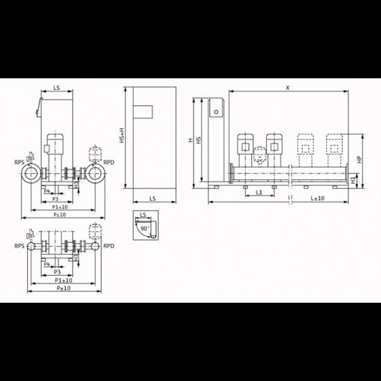 Wilo Smart FC 3 HELIX V 412 - насосная станция для водоснабжения и повышения давления воды (арт. 2787630)