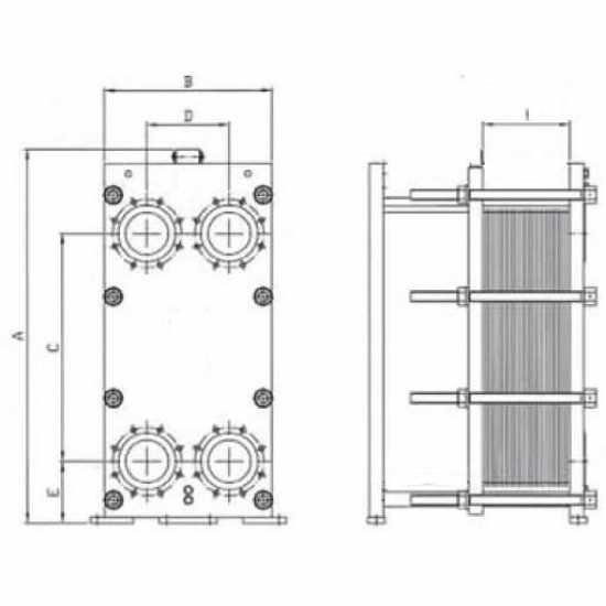 Аппарат теплообменный пластинчатый разборный Теплоконтроль ТПР 0,91