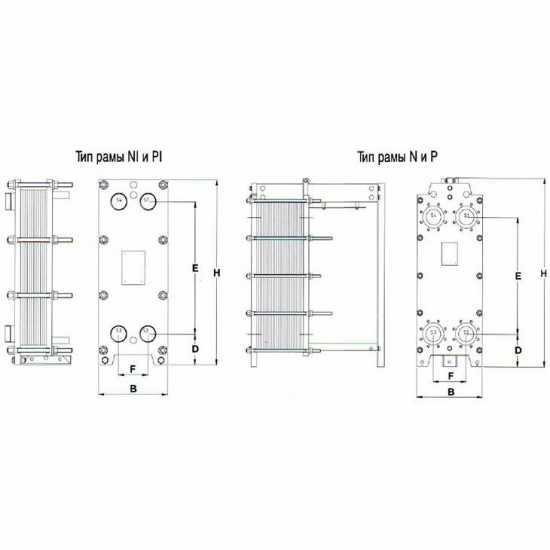 Аппарат теплообменный пластинчатый разборный Tranter GC 009 P/PI 03